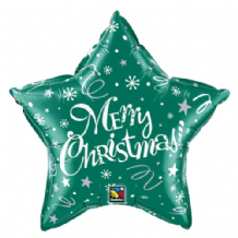 "Christmas Foil Balloon - Christmas Green Star (20"") 1pc"